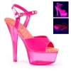 KISS-209UVT Neon Hot Pink Patent/Transparent